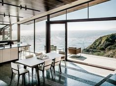 Vacation House With Glass Walls And Ceilings On The Coast | DigsDigs  by Fougeron Architecture