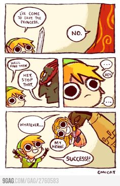 How Link really saves Zelda