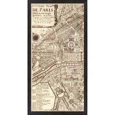 Evive Designs Plan de la Ville de Paris, 1715 by N De Fer Framed Graphic Art