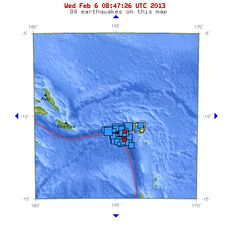 02/06/2013 - 8.0 EQ shakes Santa Cruz Islands.  Not unexpected if you follow ZetaTalk...  here's a 2010 statement worth checking out:  http://www.zetatalk.com/7of10/7of10-23.htm  This plate movement was foreseen.