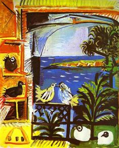 Pablo Picasso. The Doves. 1957. Oil on canvas.