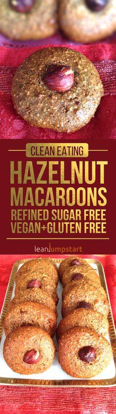 3 Ingredient Hazelnut Macaroons: Delicious Christmas Cookies, Refined Sugar Free, Vegan   Gluten Free via @leanjumpstart