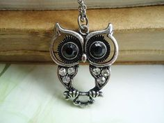 I know that nearly too many people are wearing owls now, but...I really want an owl necklace!