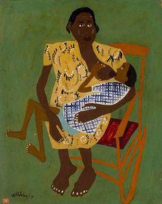 Maternel William H. Johnson, 1944 Huile sur carton, environ 68 x 53 Smithsonian American Art Museum, Washington DC, Etats-Unis d'Amérique