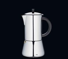 Cilio Espressokocher Figaro 2 , 4 6 und 10 Tassen - Edelstahl poliert, mit Planboden, auch für Induktion geeignet (abhängig vom Mindestdurchmesser der Topferkennung Ihres Herdes)