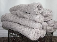 Wool Weaving Warp 5 Lbs Oatmeal Sport Strand Bulk Spool Cone Skeins Rug Yarn