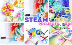 25 STEAM Projects for Kids - Babble Dabble Do Cool Art Projects, Stem Projects, Projects For Kids, Project Ideas, Easy Crafts For Kids, Art For Kids, Stem Activities, Activities For Kids, Babble Dabble Do