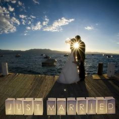 Make your wedding send-off extra special with 'Just Married' paper lanterns
