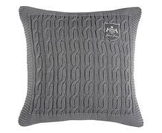 Housse de coussin HARPER 100% coton, gris - 50*50