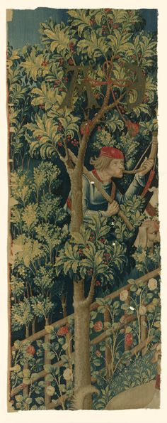 """Fragment of  """"The Mystic Capture of the Unicorn"""" (from the Unicorn Tapestries). Date: 1495–1505"""
