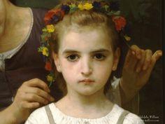 Détail, couronne de fleurs. William-Adolphe Bouguereau