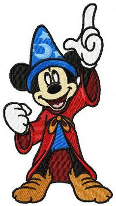 Mickey Mouse Fantasia 3 machine embroidery design