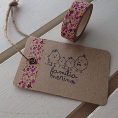 Simple Kraft Tags made with Washi Tape