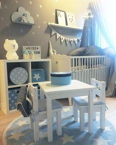 minlillestjerne God morgen fra oss 💙Her lekes det, og det har det blitt gjort… - Baby Room Boy, Baby Bedroom, Baby Room Decor, Nursery Room, Kids Bedroom, Baby Room Colors, Dere, Baby Room Design, Toddler Rooms