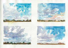 Watercolor cloud study