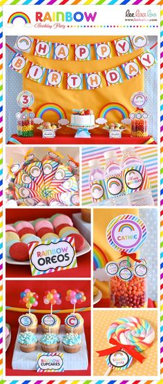 rainbow birthday | http://awesome-party-ideas-collections.blogspot.com