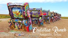 Cadillac Ranch on Route 66 - Amarillo, Texas