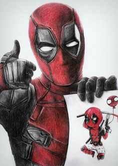 #Deadpool #Fan #Art. (Deadpool) By: Elinkalo. (THE * 5 * STÅR * ÅWARD * OF: * AW YEAH, IT'S MAJOR ÅWESOMENESS!!!™)[THANK U 4 PINNING!!!<·><]<©>