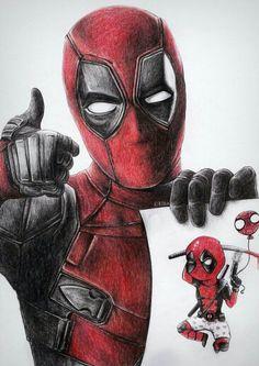 #Deadpool #Fan #Art. (Deadpool) By: Elinkalo. (THE * 5 * STÅR * ÅWARD * OF: * AW YEAH, IT'S MAJOR ÅWESOMENESS!!!™)[THANK U 4 PINNING!!!<·><]<©>