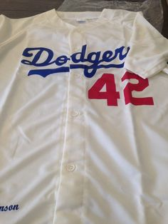 fe88545b6 Dodgers Jackie Robinson  42 Brand NEW White Jersey - LA Dodgers SGA