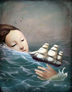 """""""Voyage"""" Digital Art von Christian Schloe jetzt als Poster, Kunstdruck oder Grußkarte kaufen.."""