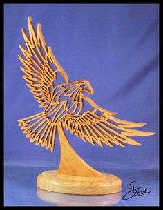 Scrollsaw Workshop: Flying Eagle Scroll Saw Sculpture.