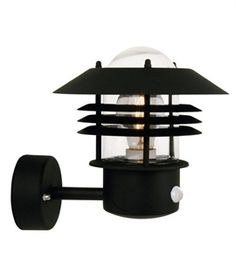 Vaned Low Glare Outdoor Wall Light with PIR