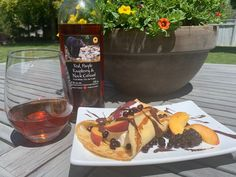 Happy hour gets happier with Black Bear Farms fruit wine!🐻🍷+ ☀️= Beary delish 😊 Crepe Ingredients, Breakfast Crepes, Essex County, Complete Recipe, Get Happy, Dried Fruit, Wineries, Black Bear, Happy Hour