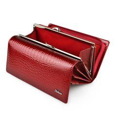 HH Genuine Leather Women Wallets Alligator Long Hasp Zipper Wallet Ladies Clutch Bag Purse 2019 New Female Luxury Purses - Leder Design