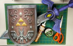 DIY tutorial for a Wind Waker Master Sword Shield Wall Decoration | Legend of Zelda Nintendo NES