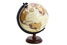 """SBBO1. Small bedroom. Others. 8"""" Globe on Stand, Mahogany .One Kings Lane. $39"""