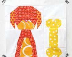 Smitten Kitten paper piecing pattern quilt block by Sugaridoo
