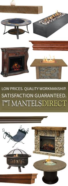 MantelsDirect.com offers the most extensive selection of high quality fireplace mantels, fireplaces, and fireplace accessories you will find.  Experienced mantel specialists are available to assist you with selecting, measuring and ordering your fireplace mantel, shelf, or outdoor fireplace. Browse here: http://www.mantelsdirect.com/?utm_source=Pinterest&utm_medium=Social&utm_campaign=Productgallery
