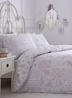 Lilac Patch Printed Bedding Set Bhsshabby Chic Cottageduvet Cover