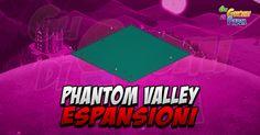 Phantom Valley: espansioni  Il nuovo sistema di Espansioni introdotto con la Avalon viene riproposto anche qui in Phantom Valley! Questa volta abbiamo ben 9Espansioni gratuite (servirà solo progredire nel gioco livello ed edifici) e 20 espansioni a pagamento!  Ci sono quindiespansioni gratuite con cadenza settimanale subordinate al raggiungimento dei variobiettivi.  Ci sono 4 espansioni e mezza di acqua dove quindi potremo piantare le zolle delle coltivazioni acquatiche e mettere gli animali…