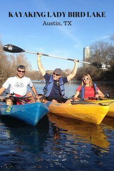 Kayaking Lady Bird Lake in Austin, Texas