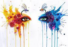 Juntos firma Art Print por PixieColdArt en Etsy