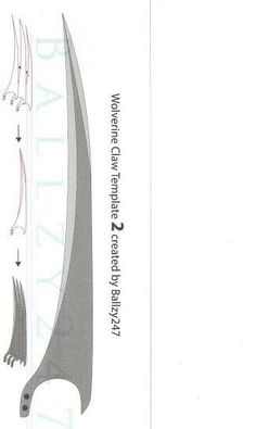 Wolverine claws template
