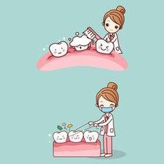 woman dentist with tooth - Saludable Mundo Humor Dental, Dental Hygienist, Dental Care, Dentist Clipart, Getting Braces, Dental Assistant, Tooth Fairy, Cute Cartoon, Teeth