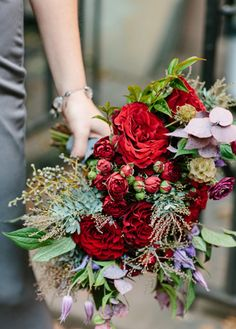 gorgeous red bouquet