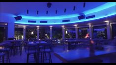 "MEDiterranean Greek Bistro & Cocktail Bar in Parga by night. Music is taken from the Album ""Gravity Room"" by Zero Gravity. Beach Bars, Aerial View, Greece, Restaurant, Greece Country, Diner Restaurant, Restaurants, Dining"