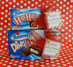 Christmas Neighbor Gifts   Ho HO's and Ding Dongs   Gift Cards