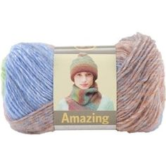 Color: Carnival  (3-4 balls) Amazon.com: Lion Brand Yarn 825-212 Amazing Yarn