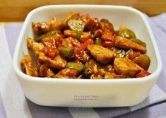 Piept de pui cu legume in sos de soia