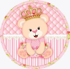 ...Cha da Evellyn Baby Shawer, Bear Party, Baby Shower Princess, Bottle Cap Images, Children Images, Baby Prints, Baby Cards, Clipart, Decoupage