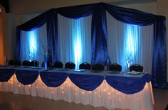 back drop and table