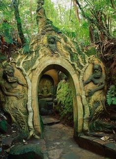 The William Ricketts Sanctuary, Australia. Portal in the Green Woods/Forest. Hey if I happen to be in Australia. Oh The Places You'll Go, Places To Visit, Magic Places, The Secret Garden, Australia Photos, Melbourne Australia, Doorway, Pathways, Arches