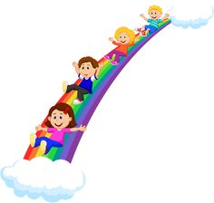 Cartoon rainbow PNG and Clipart Art Drawings For Kids, Drawing For Kids, Cute Drawings, Art For Kids, Crafts For Kids, Kindergarten Drawing, Playground Slide, Rainbow Png, School Clipart