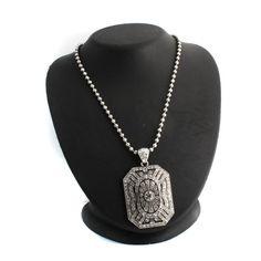 "Paula Abdul FYG Signature White Gold GP Pave Pendant & 28"" Chain H921 #PaulaAbdulFYG #Pendant"