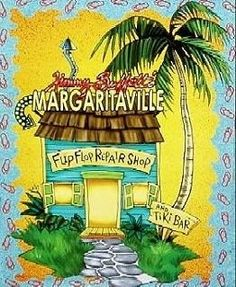 Margaritaville **Flip Flop Repair Shop/Tiki Bar** Print - must have for my new bathroom decor